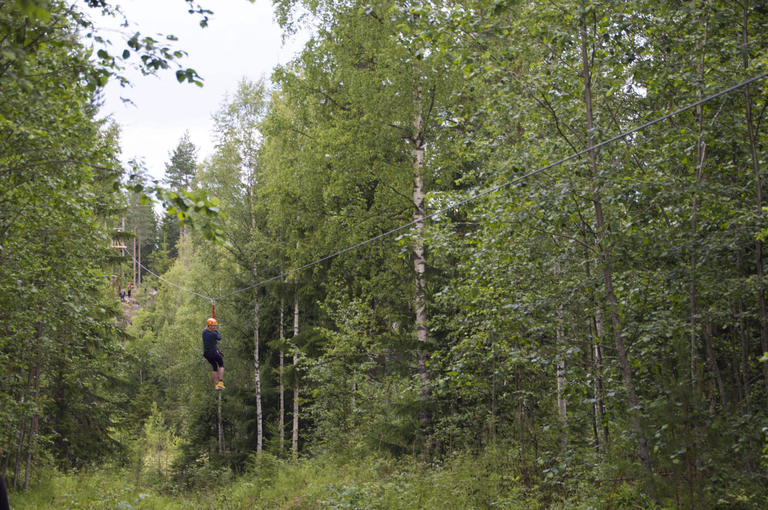 Pirkanmaan pisin vaijeriliuku Kelo ja kallio Laavumaassa
